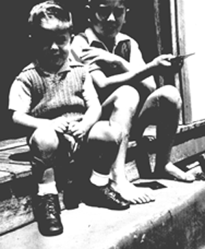 Dan and his big brother, circa 1950 maybe