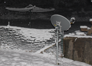 I am of the firm belief that my clothesline picks up a satellite signal equally as well as my HughesNet receiver.